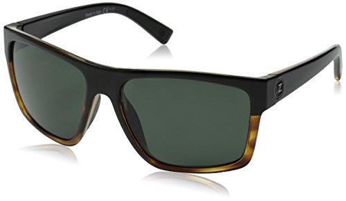 VonZipper Dipstick Rectangular Sunglasses, Hardline Black Tort/Grey, 60 - Glasses Sun Vonzipper