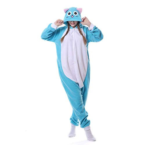 WinVic Adult Unisex Anime Cosplay Outfit Costume Onesies Pajamas Romper Cosplay Clothing (Large, Happy Habib Cat) -