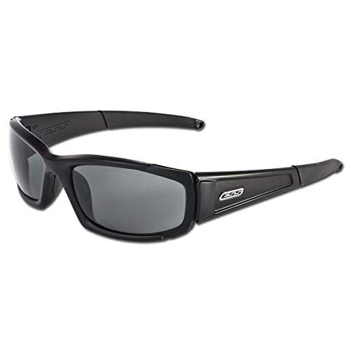 Smoke Cr 39 Lenses - ESS Eye Safety Systems CDI Ballistic Eyeshield, Black
