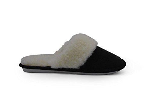 Fur House Aussie Indoor Sole Slipper Slipper Indoor Wool Black Merino W Outdoor Victoria Lined Warm Cozy R5PqH5