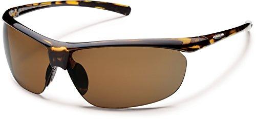Suncloud Zephyr Polarized Sunglasses in Tortoise and BROWN Lens (BONUS FREE HARDCASE)