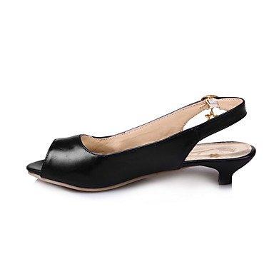 LvYuan Mujer-Tacón Bajo-Zapatos del club-Sandalias-Oficina y Trabajo Vestido Informal-PU-Negro Azul Rosa Blanco Blue