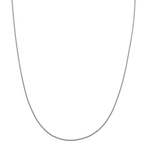- Sterling Silver Super Thin 0.8mm Italian Curb Chain Necklace - 24