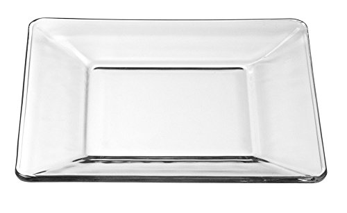 (Libbey 1797299 Tempo Dessert/Salad Plate (Set of 12), Clear)