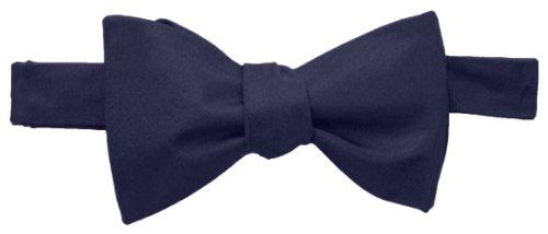 Tommy Hilfiger Men's Core Solid Bow Tie, Medium Blue, One Size (Tommy Hilfiger Bow Tie And Pocket Square Set)