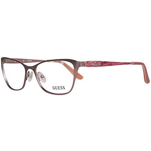Guess eyeglasses GU2425 PNK Metal Pink Size 52/16/135 (Brille Silber)