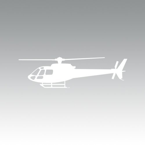 RDW Airbus Eurocopter AS350 Helicopter Sticker - Decal - Die Cut - White