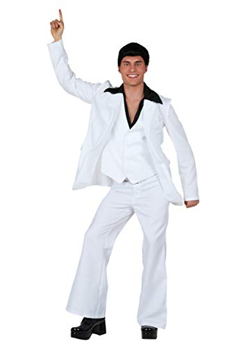 Adult Deluxe Saturday Night Fever Costume Men Medium White -