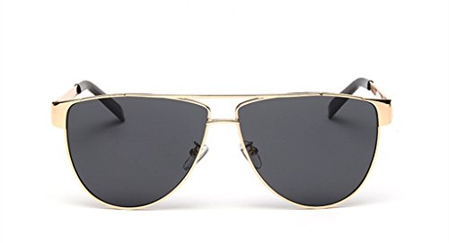 Fashion Color Film Metal Frame Sunglasses Trendsetter - Frame Gold Cartier Glasses