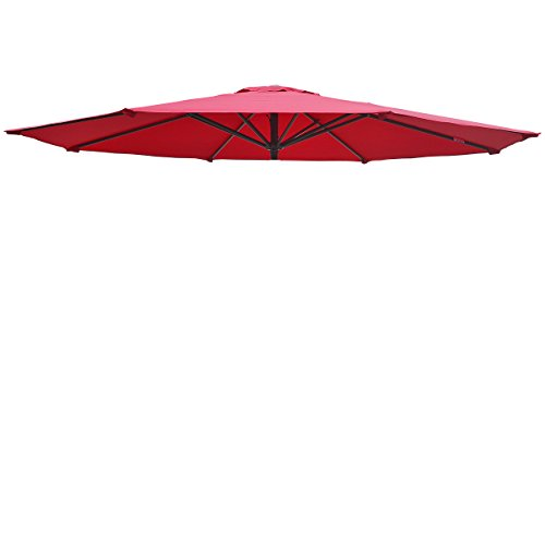 Umbrella Cover Canopy 13ft 8 Rib Patio Replacement Top Outdoor-Burgundy