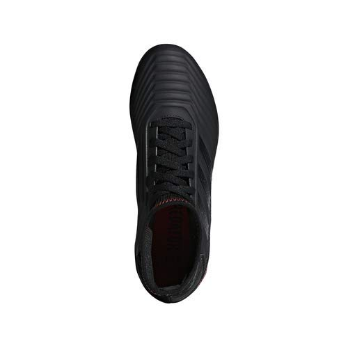 adidas Unisex Predator 19.3 Firm Ground, black/black/active red, 2.5 M US Little Kid by adidas (Image #6)