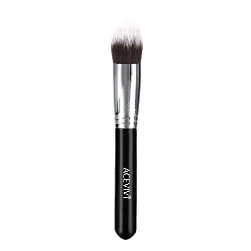 ACEVIVI Makeup Brushes - Premium Makeup Brush Kit Bamboo Handle Synthetic Kabuki Foundation Cosmetic Brushes for Powder Liquid Cream (Solution Kit Control Pigment)