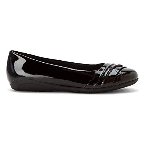 US Frauen Femme Cradles Leather Chaussures Walking Patent pour Black Bateau gYXn4w