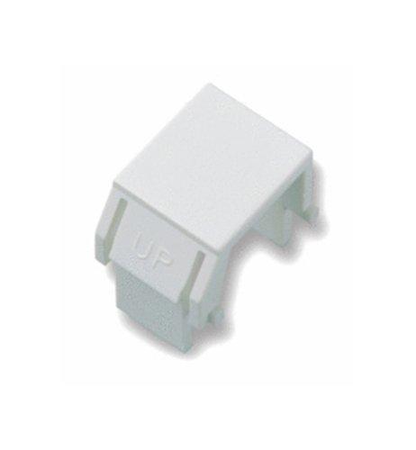 - On-Q Legrand WP3455-WH Snap-In Blank Keystone Modular Insert, White