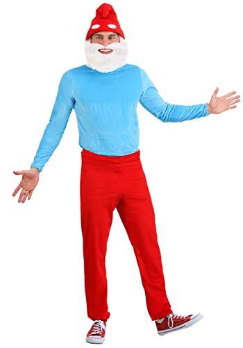The Smurfs Adult Papa Smurf Costume - L