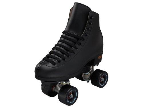 Riedell Boost Rhythm Skates - Riedell Boost Black Quad Rolle