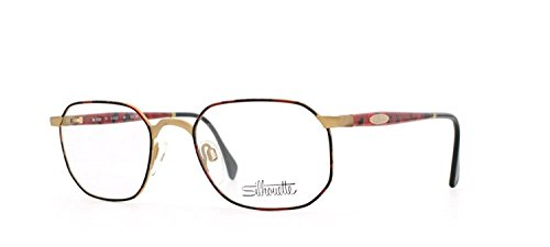 Silhouette 7252 6053 Red and Black Authentic Men - Women Vintage Eyeglasses ()