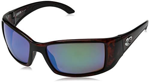 Costa Del Mar Blackfin Sunglasses, Tortoise, Green Mirror 580G Lens