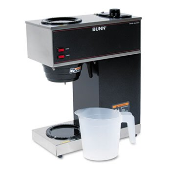 - Bunn-O-Matic Pour-O-Matic Model VPR Coffee Brewer, Stainless Steel/Black
