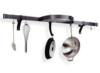 Enclume Stainless Steel Wall Shelf (Enclume PR10-SS Premier Shelf with Half Circle Wall Rack, Stainless)