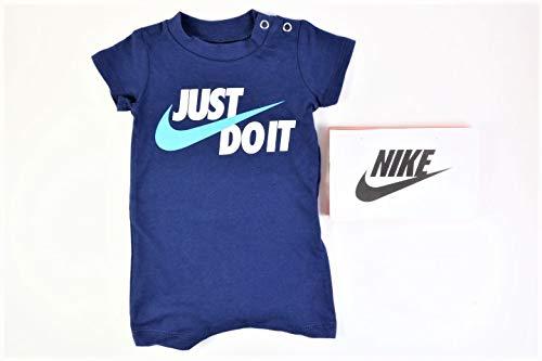 (Nike Baby Boy Infant Shortall (Blue Void(66E637-U9J)/White, 3)