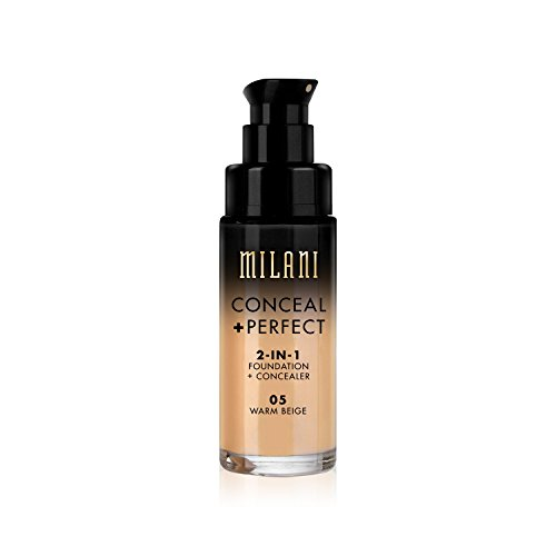 Warm Beige Foundation - Milani Conceal + Perfect 2-in-1 Foundation Concealer, Warm Beige, 1.0 Fluid Ounce