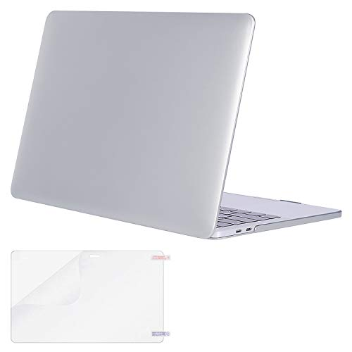 MOSISO MacBook Pro 13 Case 2018 2017 2016 Release A1989/A1706/A1708, Plastic Hard Shell Cover with Screen Protector Compatible Newest MacBook Pro 13 Inch with/Without Touch Bar, Silver