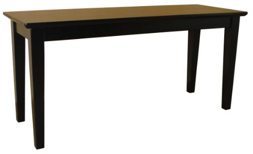 International Concepts BE46-39 Shaker Styled Bench RTA, Black