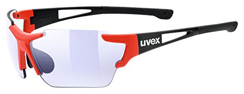 Uvex Sportstyle 803 Race VM Sunglasses Black/Red Matte, One Size - Men's (Uvex Sportstyle)