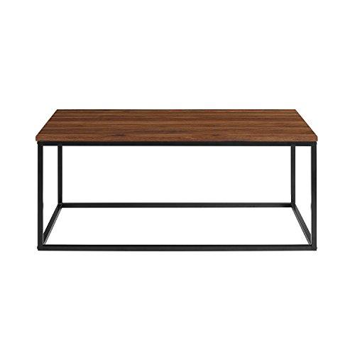 WE Furniture AZ42LWSQDW Coffee Table, Dark Walnut