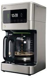 Braun KF7370SI Braun BrewSense Touch Screen Coffee Maker KF7370SI, 12 Cup, Stainless Steel