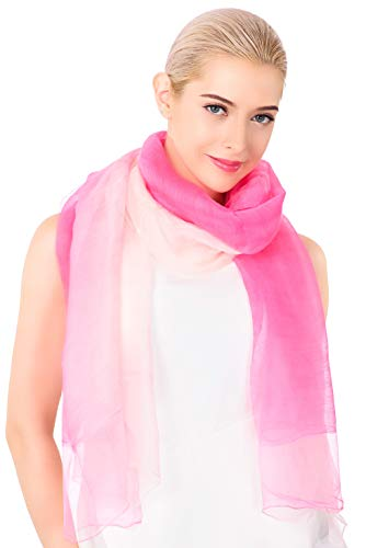 (ADVANOVA Silk Wool Scarf for Women, Evening Wraps for Prom (Pink & Pastel))