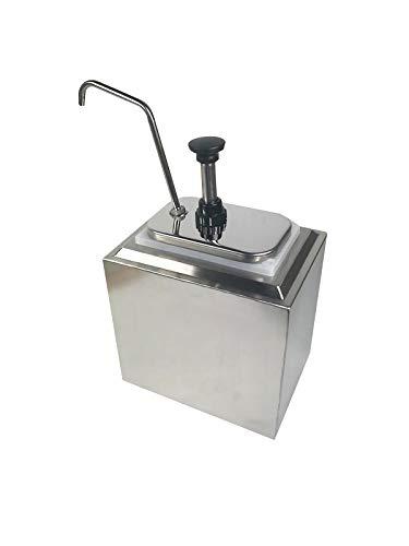 INTBUYING Stainless Steel Condiment Pump Single Head Sauce Dispenser Kitchen Restaurant by INTBUYING (Image #1)