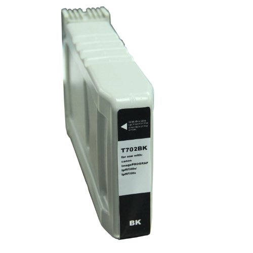 CompAndSave Replacement for Canon PFI-702BK Black Inkjet Cartridge ()