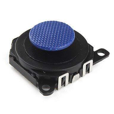 (Canamite 1PCS Blue 3D Rocker Analog Joystick Thumb Stick with Cap for PSP 1000 1001 controller repair replacement Parts)