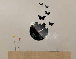 Hommy®Farfalla Orologio da parete Orologio da parete Specchio ...