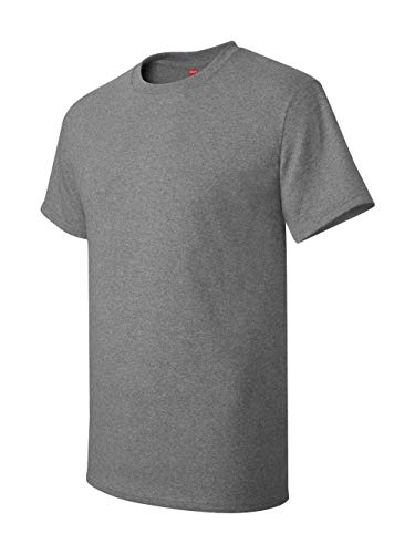Oxford Gray T-shirt - Hanes Mens Tagless 100% Cotton T-Shirt, Large, Oxford Grey