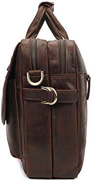 YαYα Large Capacity Men's Leather Briefcase Business Laptop Handbag Shoulder Bag
