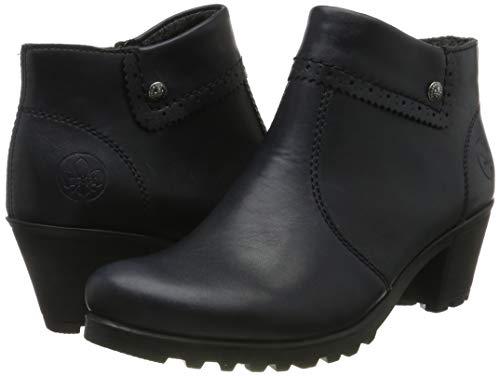 Rieker Damen Stiefeletten M8081, Frauen Ankle Boots, Stiefel halbstiefel Bootie knöchelhoch reißverschluss Damen Frauen,Navy / 14,37 EU / 4 UK 7