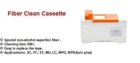 Herramienta de limpieza de fibra /óptica Kit de herramientas de fibra /óptica #2 Interfaz SC//LC Rotulador de fibra /óptica con rotaci/ón de 180 /° ingenieros universales