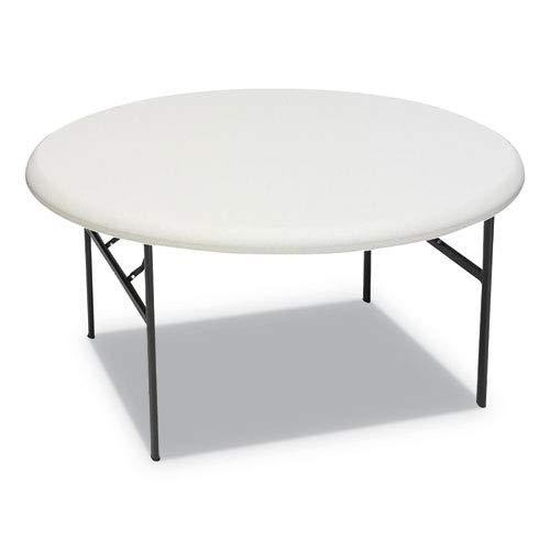 Iceberg 65263 IndestrucTables Too 1200 Series Resin Folding Table, 60 Dia x 29h, Platinum