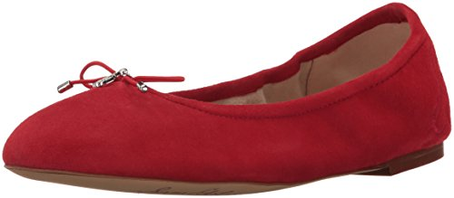Sam Edelman Women's Felicia Ballet Flat, Passion Red Suede, 7 M US