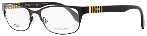 Fendi Rectangular Eyeglasses FF0033 5LQ Shiny Black 53mm ()
