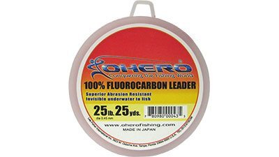 Ohero 100% Fluorocarbon Leader 25 Lb 25 Yards Spool