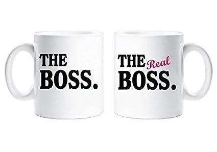 Il Boss The Real Boss Coppie Set Di Tazze Genitori Regalo Marito