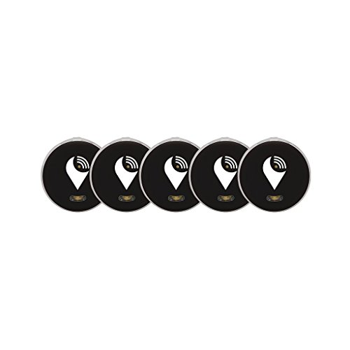 TrackR Pixel - Bluetooth Tracking Device. Key Tracker. Phone Finder. Wallet Locator - Black (5 Pack)