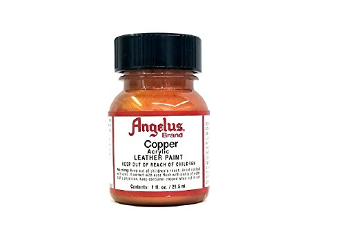 (Angelus Brand Acrylic Leather Paint Water Resistant 1 oz - Select Your Color (#141 Copper))