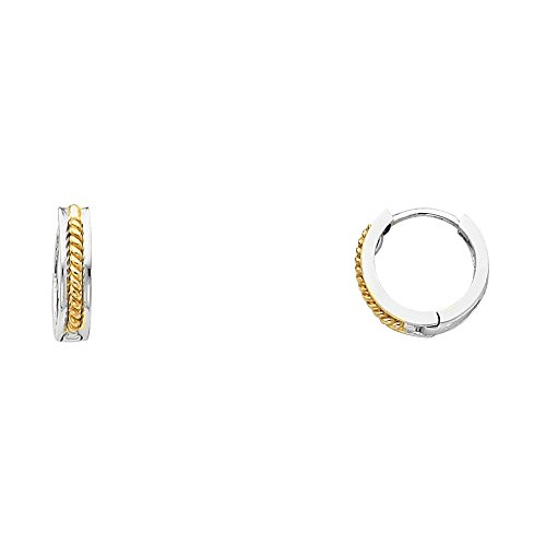 Tone Gold Thickness Huggie Earrings product image