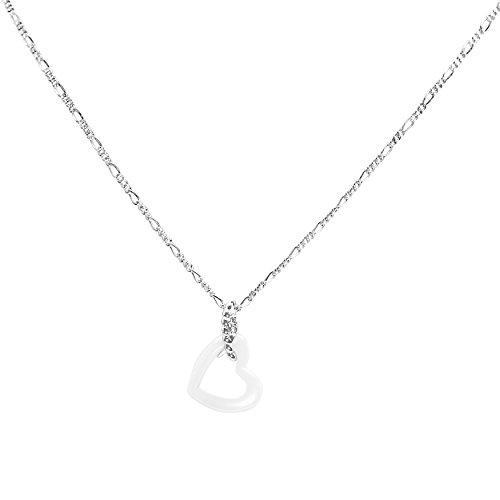 Stella Maris - Sautoir - Argent 925 - Diamant 0.02 cts - 45 cm - STMJ6-161w