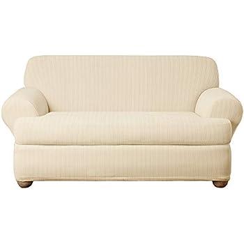 Amazon.com: Sure Fit - Funda elástica para sofá , Felpa ...